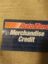 Autozone merch card