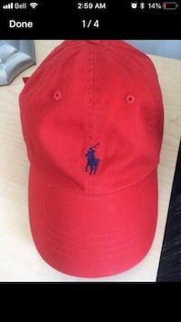 Red polo by ralph lauren cap London, N6B 5A9