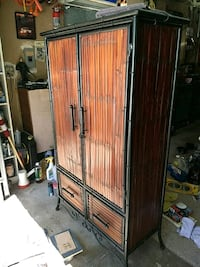 brown wooden 2-door wardrobe San Marcos, 92078