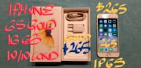$265 FIRM IPHONE 6S 16GB GOLD LIKE NEW+box+charger Pointe-Claire, H9R 3A3
