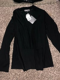 New woman's black draped cardigan size XL San Jose, 95123