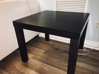 Square Side Table, Dark Brown