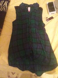 green and black plaid sleeveless dress Corpus Christi, 78405