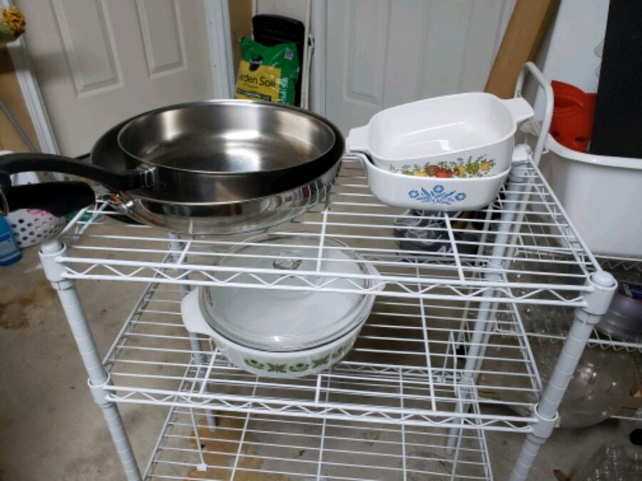 Photo Pots Pans Corning Ware Fire King (will separate)