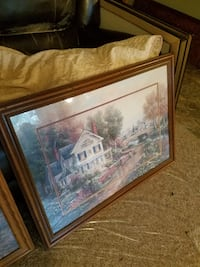 Victorian House Bleed Framed Picture  Maple Plain