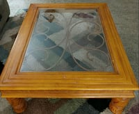 "Glass Top Table 40""wide×50""long×17""high"