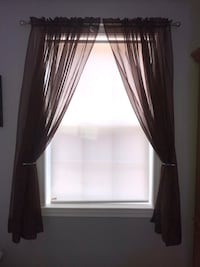 Chocolate sheer curtains (6 panels)