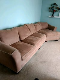 Suede couch Freeland, 48623