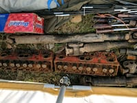 assorted grey and brown vehicle metal parts
