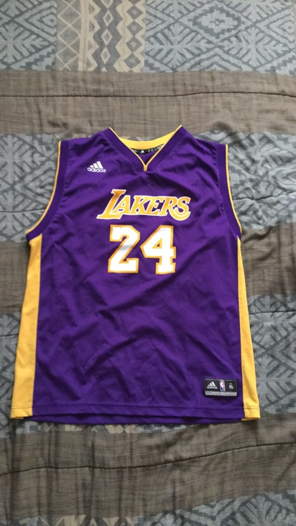 db8fc281cbb Used Kobe Bryant  24 Los Angeles Lakers NBA Adidas Jersey Youth Size XL for  sale in Mississauga