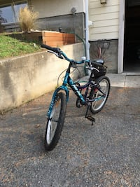 "Kids bike. Good shape. We bought from original owners but hardly used it.the wheels are 20"" Saanich, V8Y 1W3"