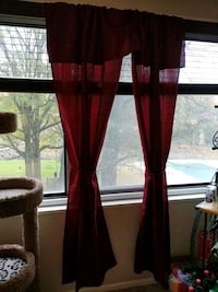 Burgandy Curtains w Ties, set of 2 North Bethesda, 20852