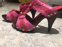 Shoes-Pair of pink open-toe ankle strap sandals Toronto, M1E