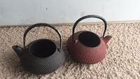 Japanese cast iron teapots. $15 for the bigger one