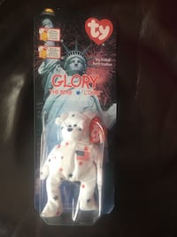 Glory the bear ty beanie baby plush toy pack