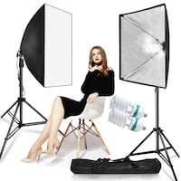 1000w Softbox Lighting Kit for Shooting Portraits, Headshots & Product / PhotoVideoSpot.ca Toronto