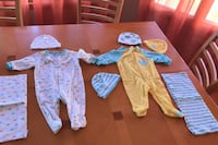 Infant clothes w hats and birp cloths included  0-3 months