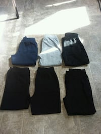 The dark blue pants is a 4T. And the others is 5T  Elkton, 22827