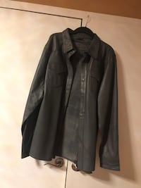 Genuine leather shirt jacket size L.