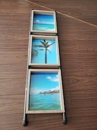 Industrial/Rustic 3 Picture Frame