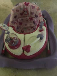 Baby's purple, white, and pink Minnie Mouse walker Duvall, 98019