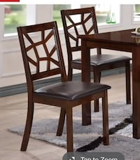 Contemporary Black Faux Leather Dining Chair 2-Piece Set by Baxton Studio (2A2) Houston, 77055