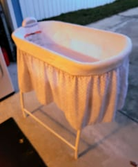 Baby bassinet. With music and wave features