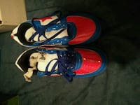 red-and-blue Nike Bapes shoes Toronto, M9W