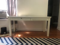 PB Teen White Wooden Desk with Drawer New York, 10002