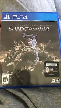 Sony PS4 Shadow of Mordor game case