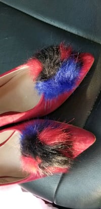 Red and purple low sling back ladies shoes Goose Creek, 29445