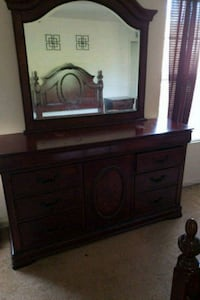 brown wooden dresser with mirror Silver Spring, 20906
