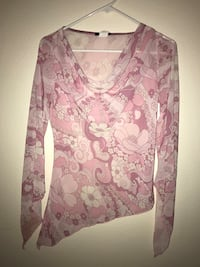 Sheer pink top. Sz M Colorado Springs, 80918
