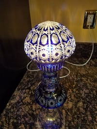 purple and blue floral table lamp HUNTERSVILLE