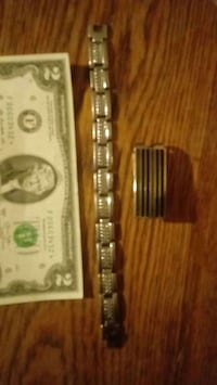 Men's Stainless Fashion Bracelet & $$$clip Auburn, 98002