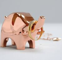 Rose Gold Ring Holders - Rabbit and Elephant shapes available Toronto