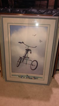 Bike painting with frame  Cambridge, N1P 1H4