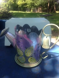 PartyLite watering can with base and snuffer