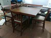 Table set with 2 chairs, 2 benches and corner pc Toronto, M1P 4H8