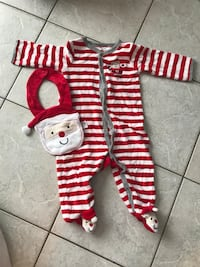 Carters size 9 months Santa outfit with bib Walworth, 14502