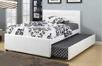 BRAND NEW PU-LEATHER BED WITH TRUNDLE - FREE DELIVERY IN GTA TORONTO