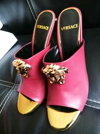 Used Red and Gold Versace Mules Sandals size 9&10 Hyattsville, 20781