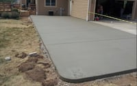 We concrete patios and drive ways  31 km