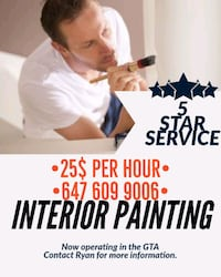 INTERIOR PAINTING ONLY 25$ PER HOUR Brampton