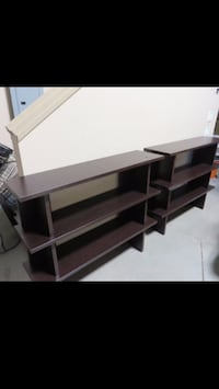 $125 each/$225 set - brand new stackable bookcase