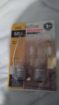 60w Sylvania double light bulb in pack Alexandria, 22304