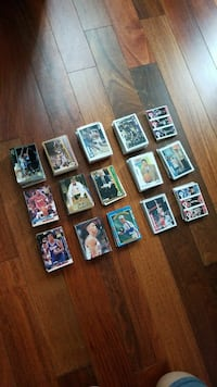 Basketball trading card collection