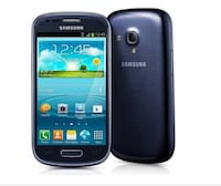 Black samsung galaxy s3 mini no back or battery  Lakewood Township, 08701