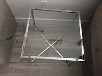 Chrome glass side tables x2 Surrey, V3X 0C3