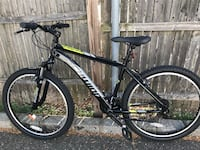 black and white Salcano hardtail mountain bike Westbury, 11590